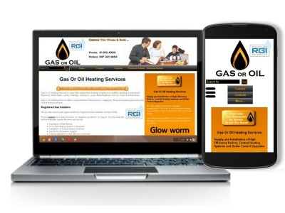 Example of a responsive website, showing desktop and mobile version as designed by The Webbery, Mobile Web Design, Ireland